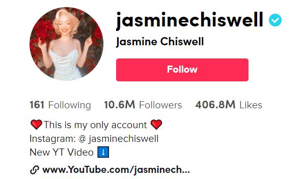 Jasmine Chiswell Tik Tok