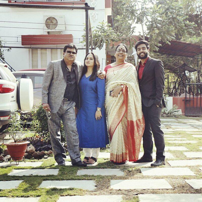 Yashraj Mukhate with his family