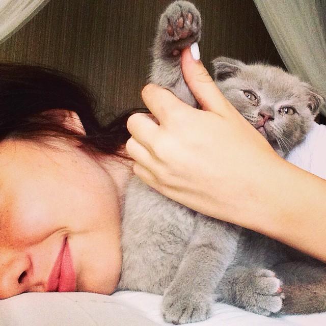 dasha with her pet