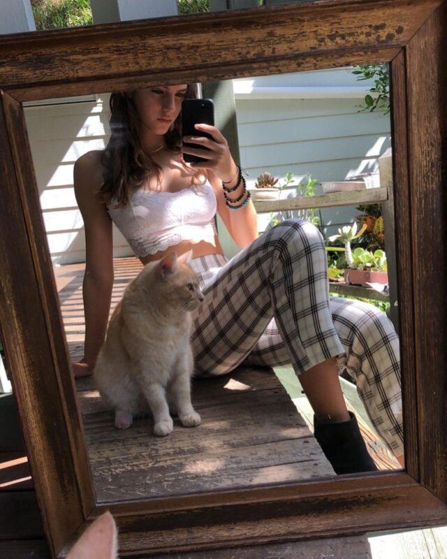 emily feld with her pet