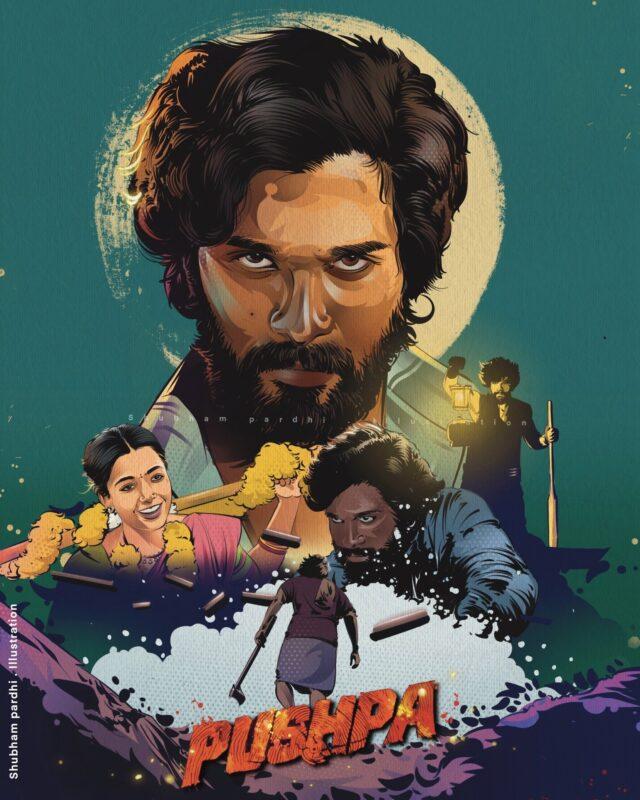 Pushpa fan made poster