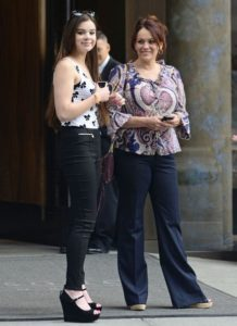 Hailee with her mother