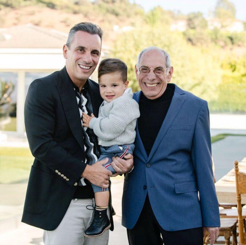 Sebastian Maniscalco with his father