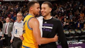stephen curry with his brother
