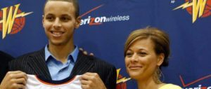 stephen curry with his mom