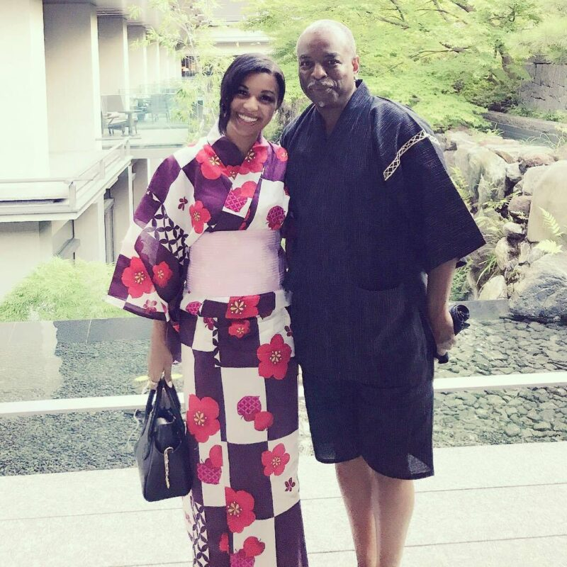 Mica Burton with her father